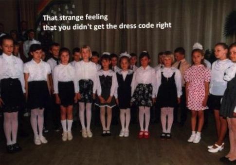 dress code, pink, girl, unique, fail