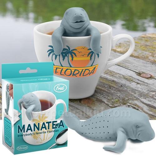 manatee, tea, infuser, pun, product