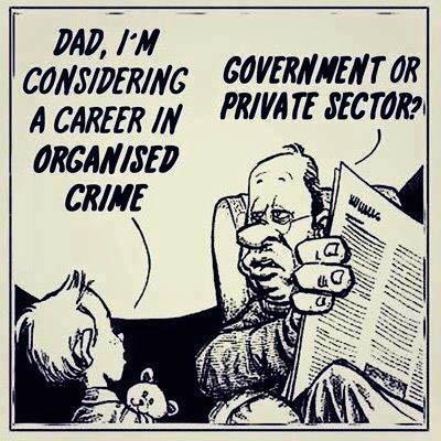 comic, organized crime, government, private sector