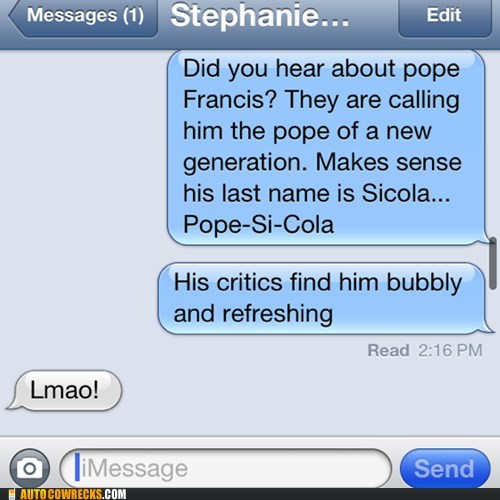 pepsi, pope, iphone, wordplay