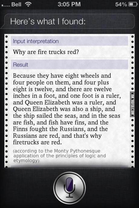 iphone, siri, firetrucks, red