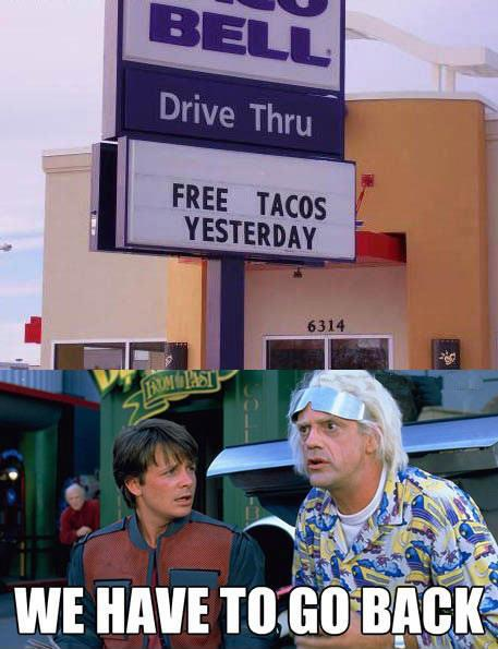 taco bell, back to the future
