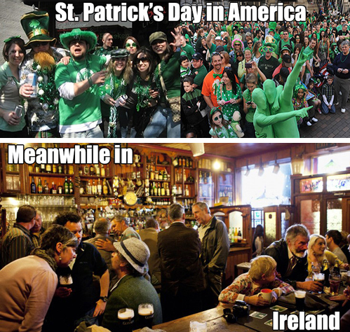 st patrick's day in america, meanwhile in ireland