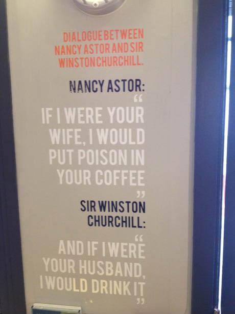 sir winston churchill, nancy astor, quote, burn
