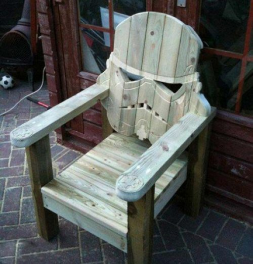 chair, storm trooper, carving, win, star wars