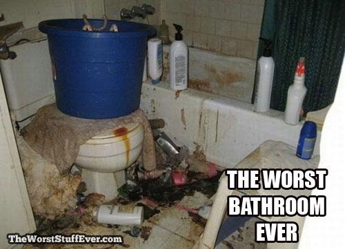 worst, bathroom, disgusting, dirty