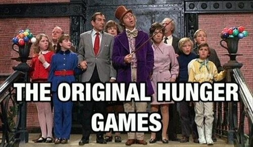 hunger games, charlie's chocolate factory