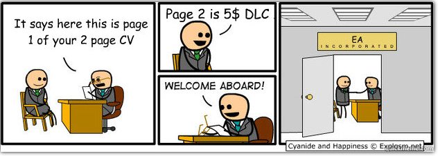 comic, cyanide and happiness, ea, in-app purchases
