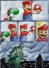 mario, yoshi, mushroom, comic, godzilla