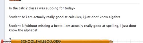 calculus, algebra, alphabet, spelling, student, facebook