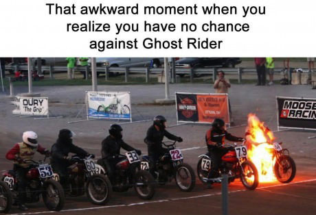 motorcycle, ghost rider, race, fail, fire