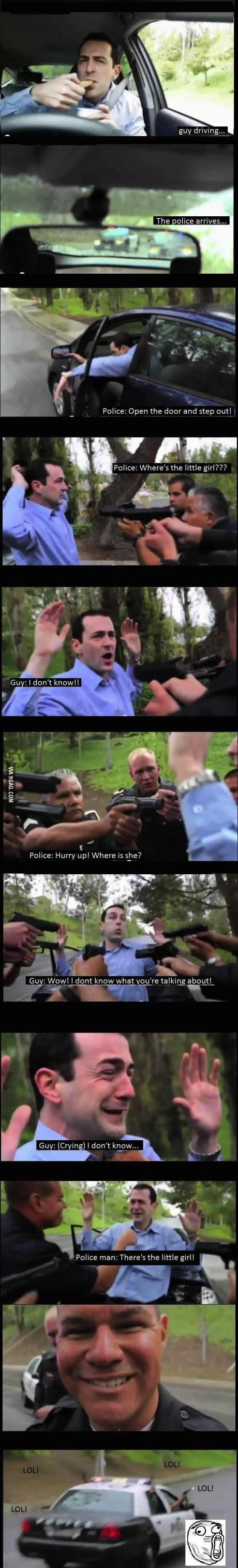 cops, police, troll, prank, little girl