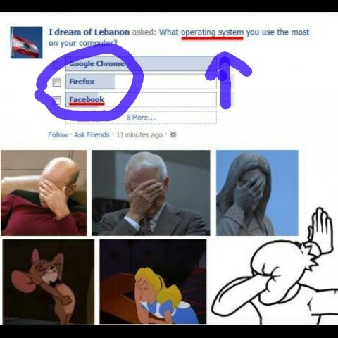 facebook, fail, face palm, operating system