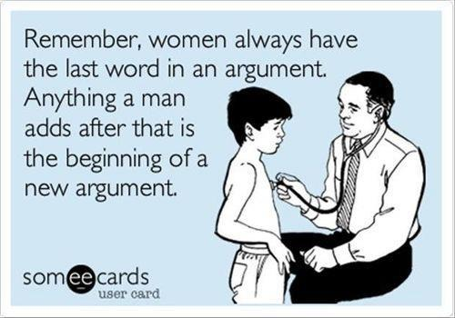 ecard, woman, argument, last word