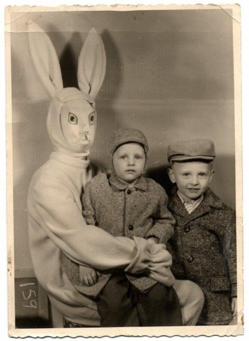 easter, bunny, costume, wtf, creepy
