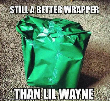 rap, wrapping paper, lil wayne, burn, meme