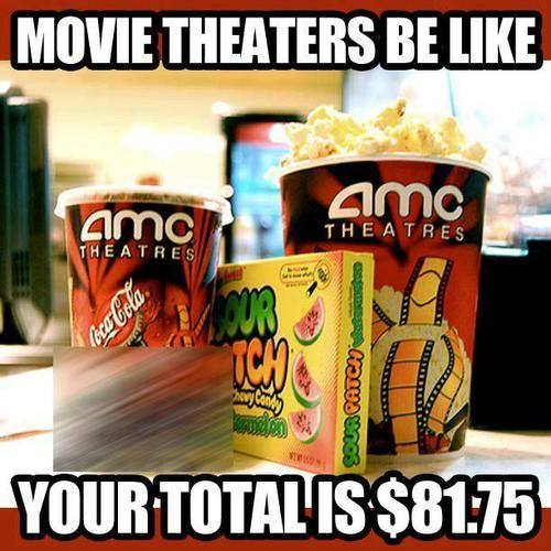 movie theatre, rip off, expensive, meme