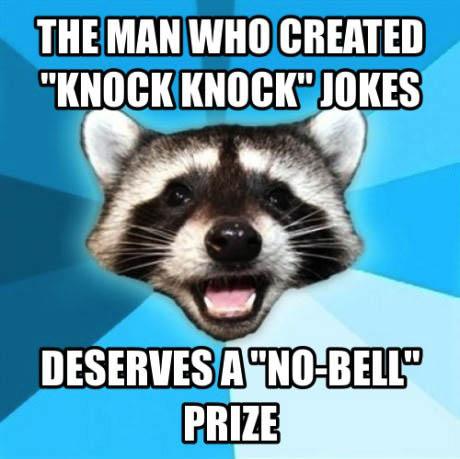 bad pun coon, nobell, knock knock