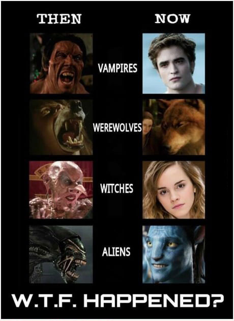 then and now, vampires, werewolves, witches, aliens