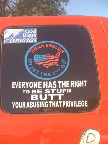 racist, america, sticker, fail, stupid, butt