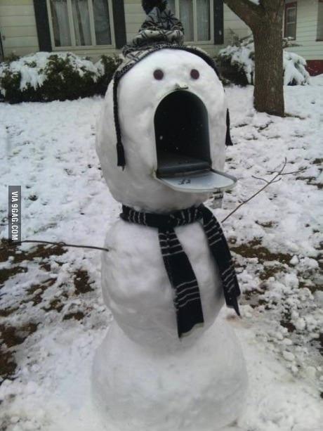 snowman, mailbox
