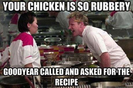 iron chef, meme, joke, chicken, goodyear
