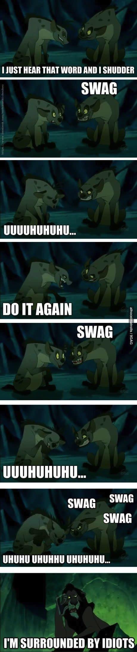 lion king, hyenas, swag