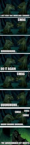 lion king, hyenas, swag