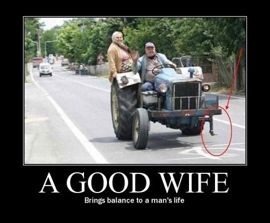 balance, wife, motivation, tractor