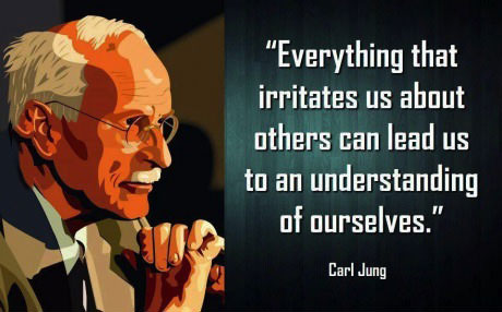 everything that irritates us about others can lead us to an understanding of ourselves, carl jung, quote