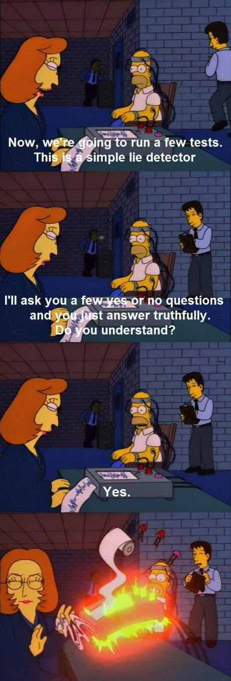 simpsons, lie detector, x-files, fox moulder, dana scully