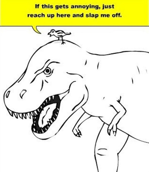 tyrannosaurs rex, short arms, troll, prank, scumbag bird