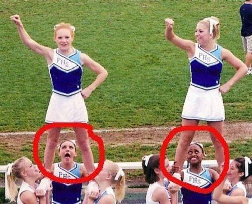 cheerleaders, up skirt, face, lol