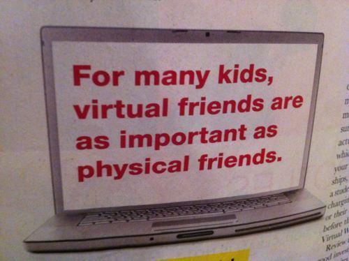 kids, friends, virtual