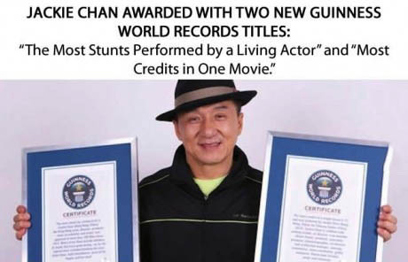 guinness world records, jackie chan