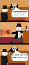 monopoly, jail, court, judge
