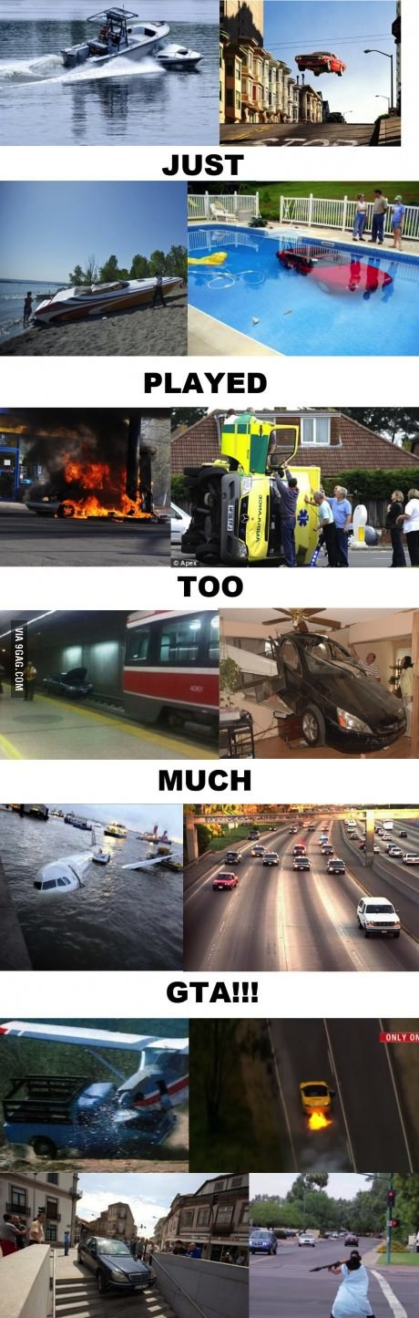 gta, real life, accidents, video game