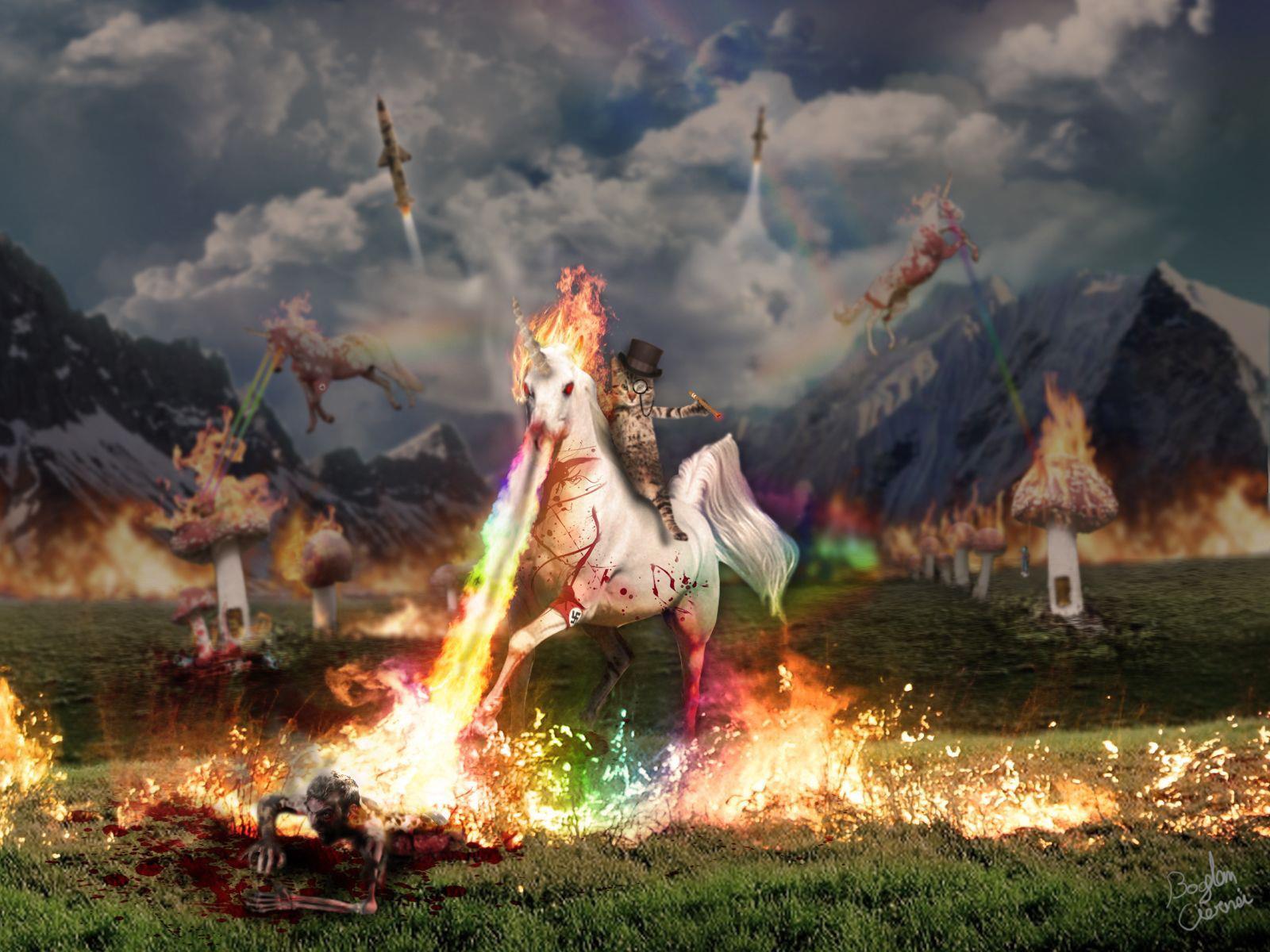 unicorn, fire breathing, awesome, win, art, wtf