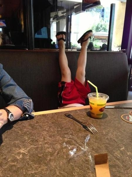 kids, poor behaviour, table, feet up