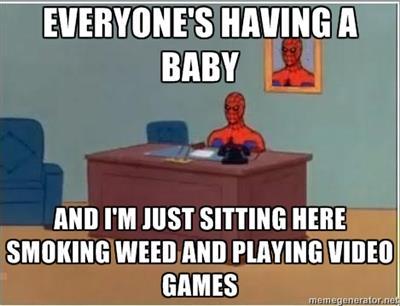 spiderman, weed, video games