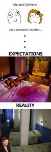honeymoon, romantic getaway, expectation, reality, vacation fail