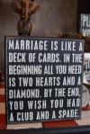 marriage, heart, diamond, club, spade, sign, lol, joke