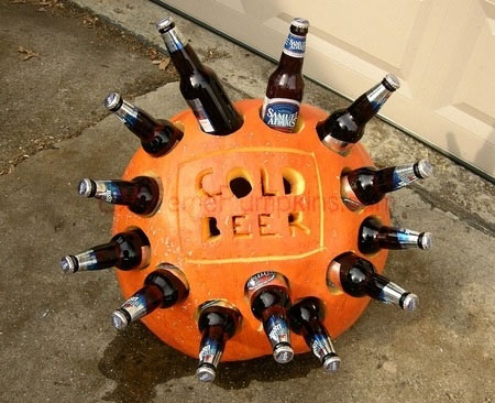 cold beer, pumpkin, halloween, ice, cooler, best