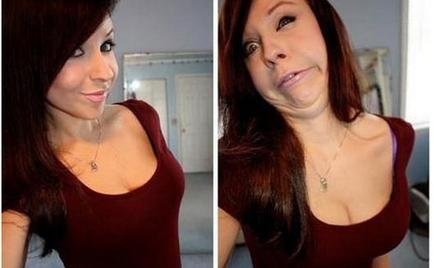 Hot girls making ugly faces, before, after, hot, ugly, girl
