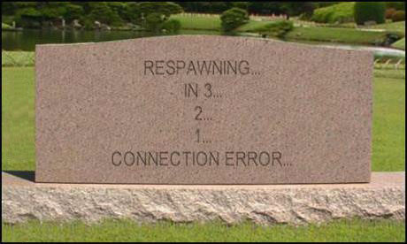 grave, tombstone, respawn, video game, humor