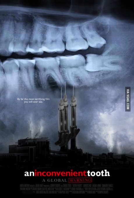 movie poster, parody, inconvenient truth, tooth, wordplay