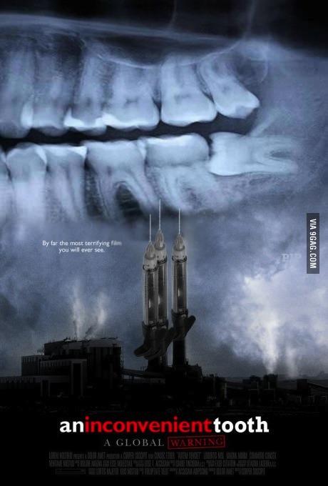 movie poster, parody, inconvenient truth, tooth, wordplay