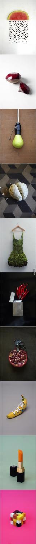 food, art, vegetables, fruit