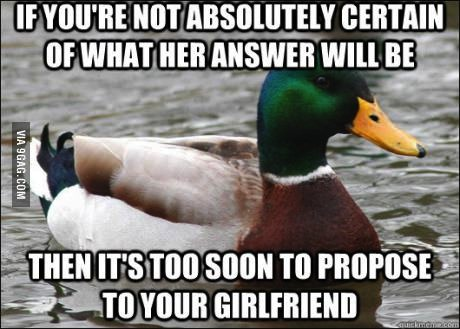 proposal, actual advice mallard