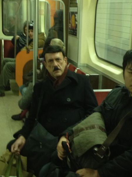 hitler riding the bus, public transport